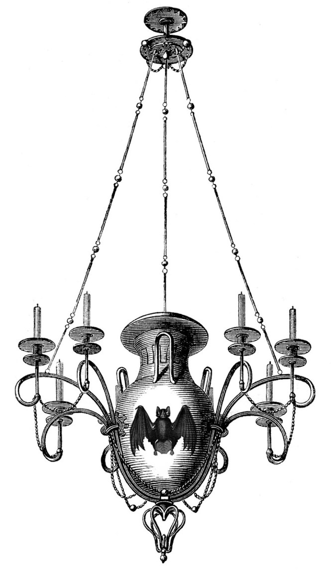 Antique Images 3 Chandeliers 1 Y