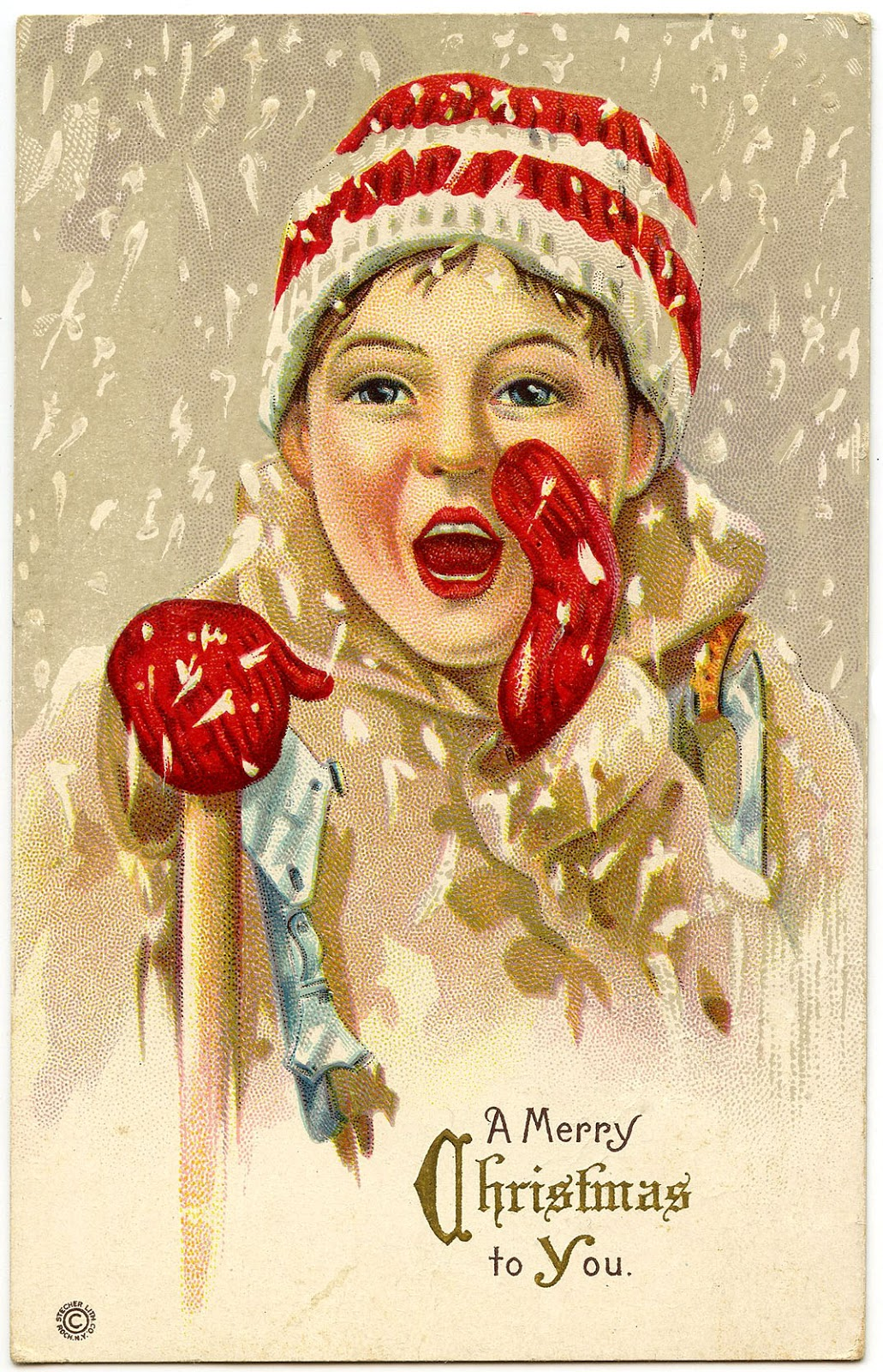 Vintage French Postcards Christmas