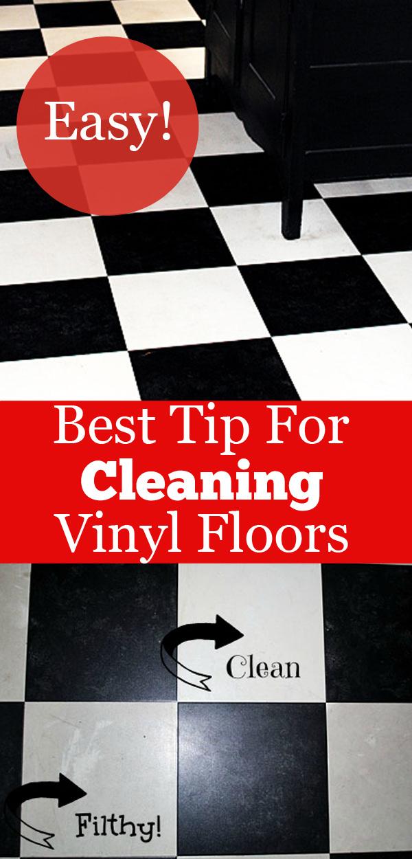 to clean vinyl floors