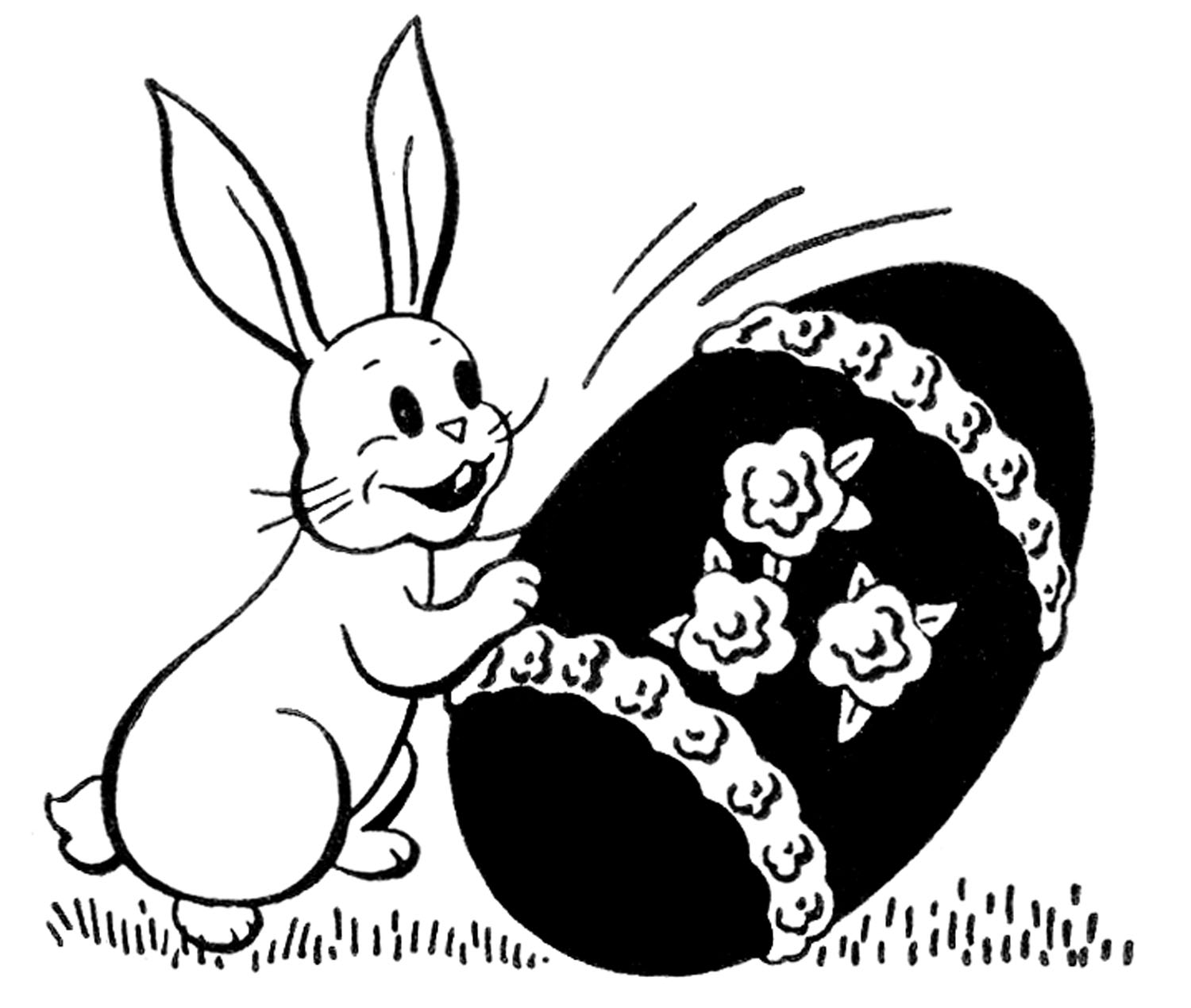 20 Bunny Rabbit Silhouettes And Clip Art The Graphics Fairy