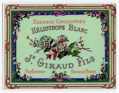 Vintage Clip Art French Perfume Label The Graphics Fairy