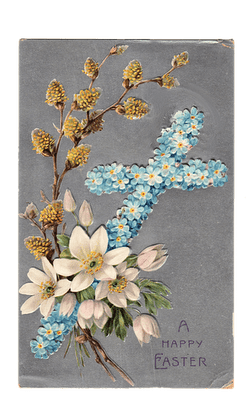 Vintage Clip Art Easter Cross Postcard The Graphics Fairy