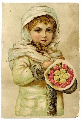 Vintage Christmas Clip Art Stunning Angelic Snow Girl The Graphics Fairy