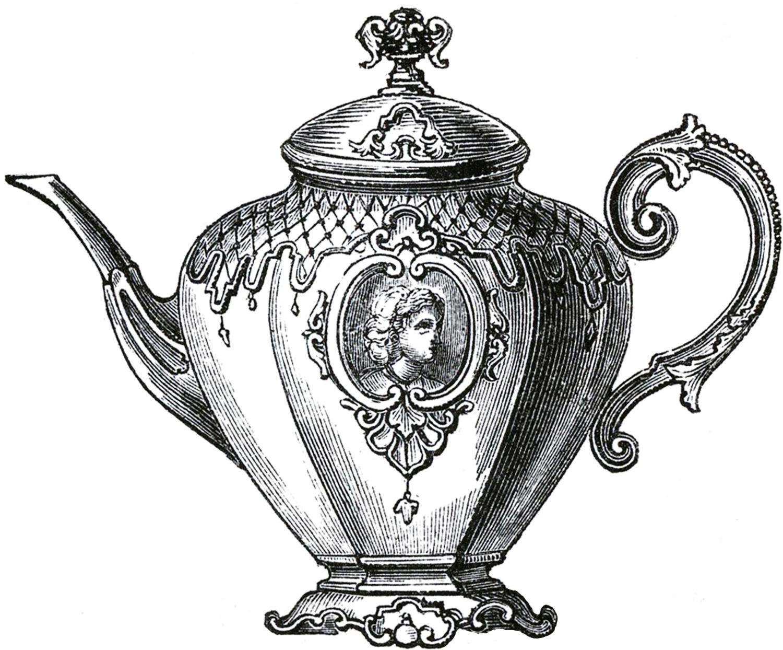 Free Public Domain Tea Set Images
