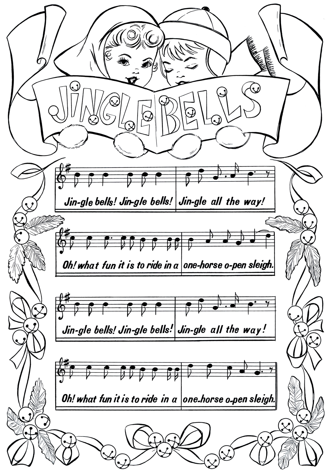 Jingle Bells Sheet Music Graphicsfairy