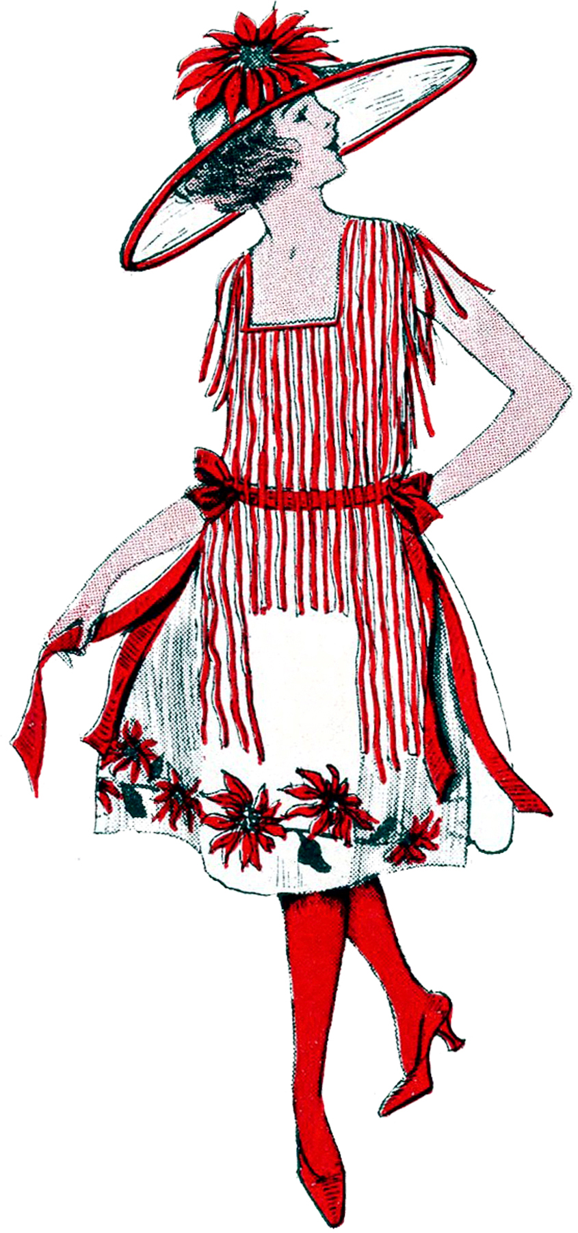 Vintage Christmas Costume Lady The Graphics Fairy