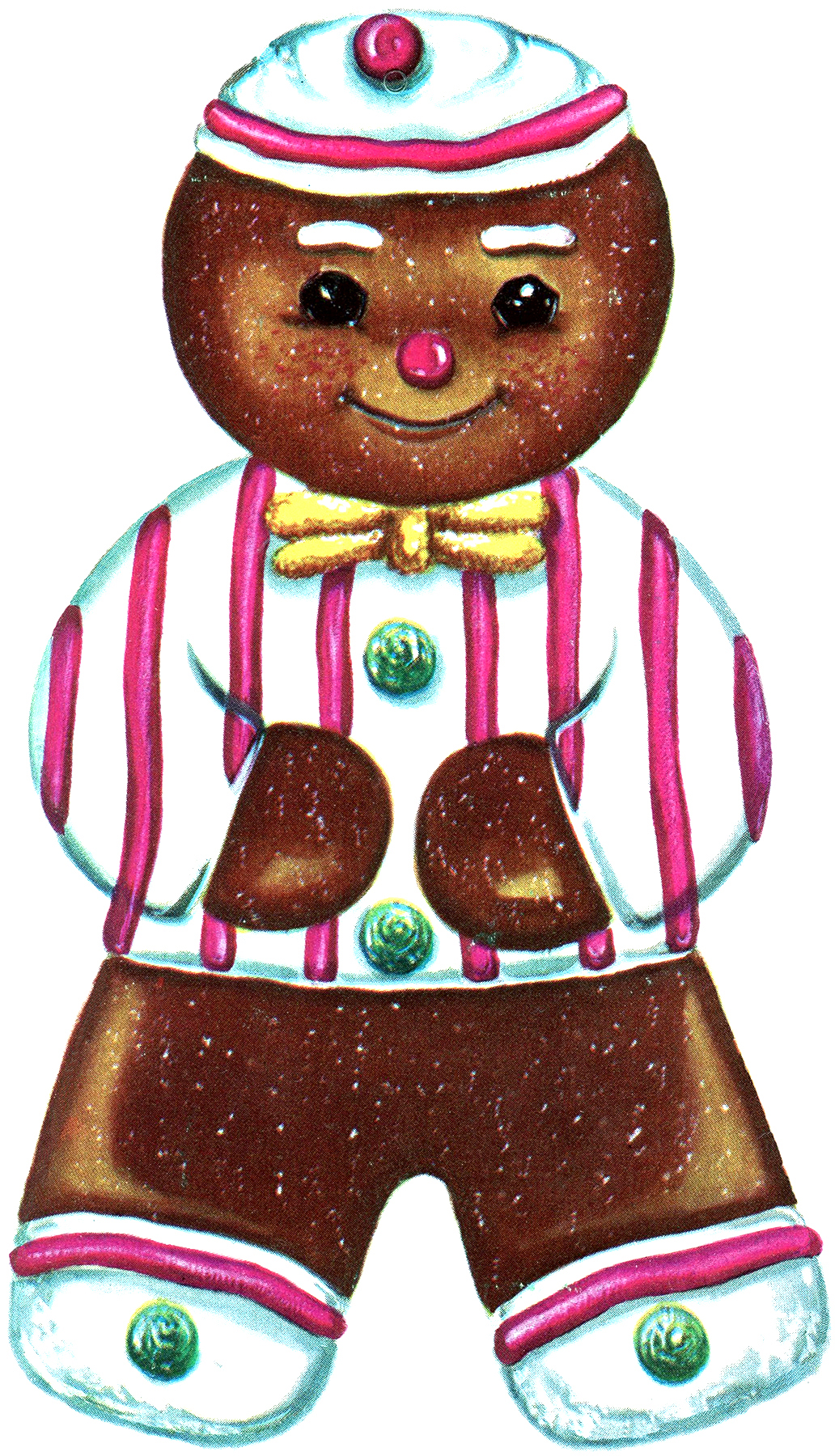 Printable Ornaments Gingerbread Man Amp Retro Bird