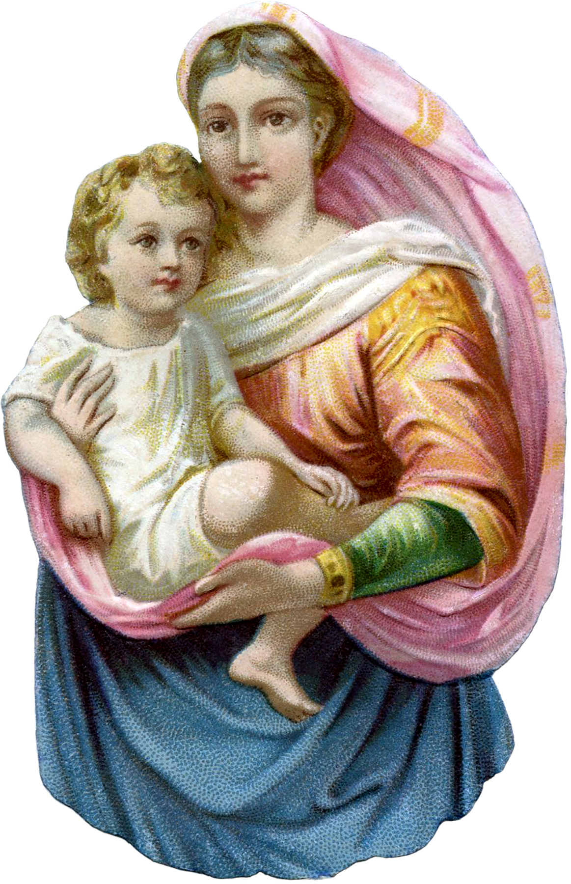 Beautiful Madonna With Child Image The Graphics Fairy