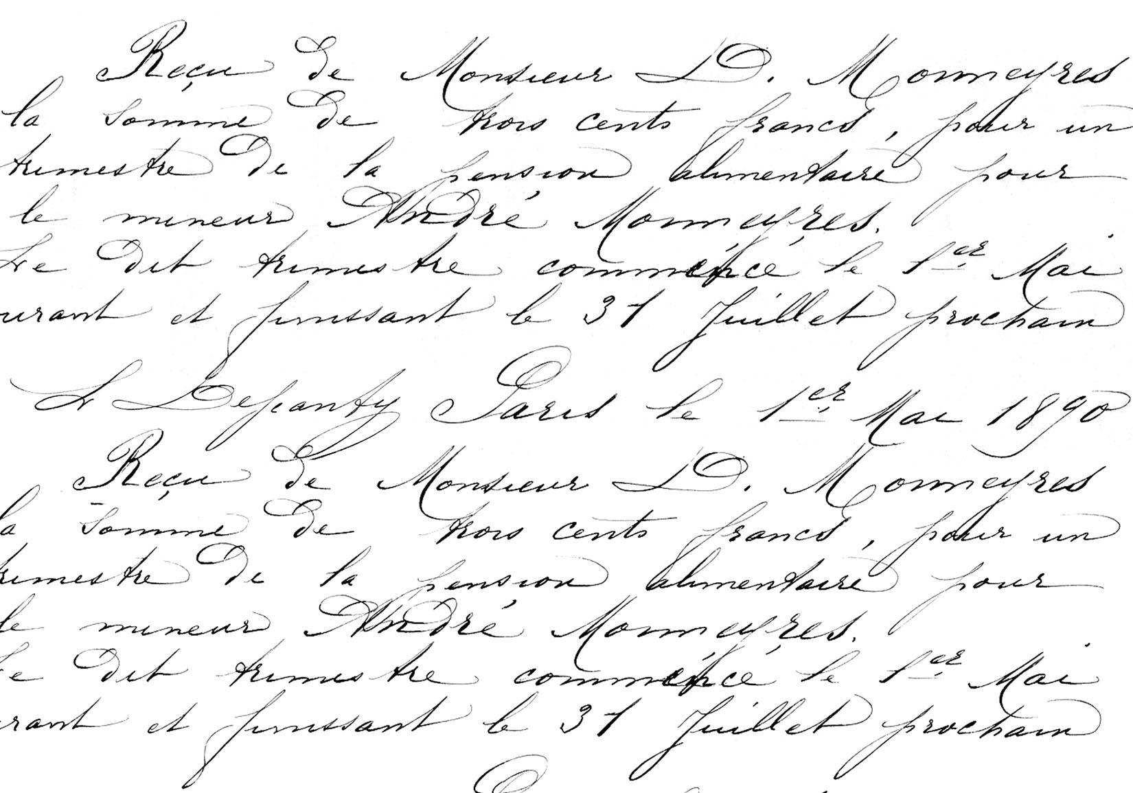 Victorian Script Handwriting