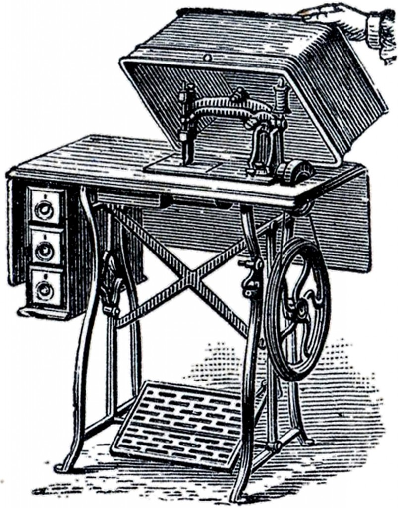 Old Fashioned Sewing Machine Image The Graphics Fairy