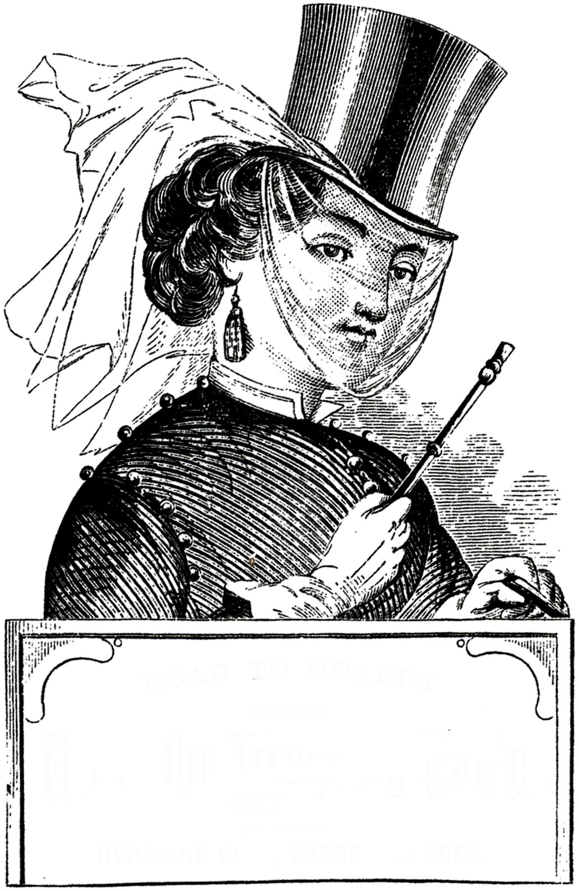 Victorian Riding Habit Lady Image