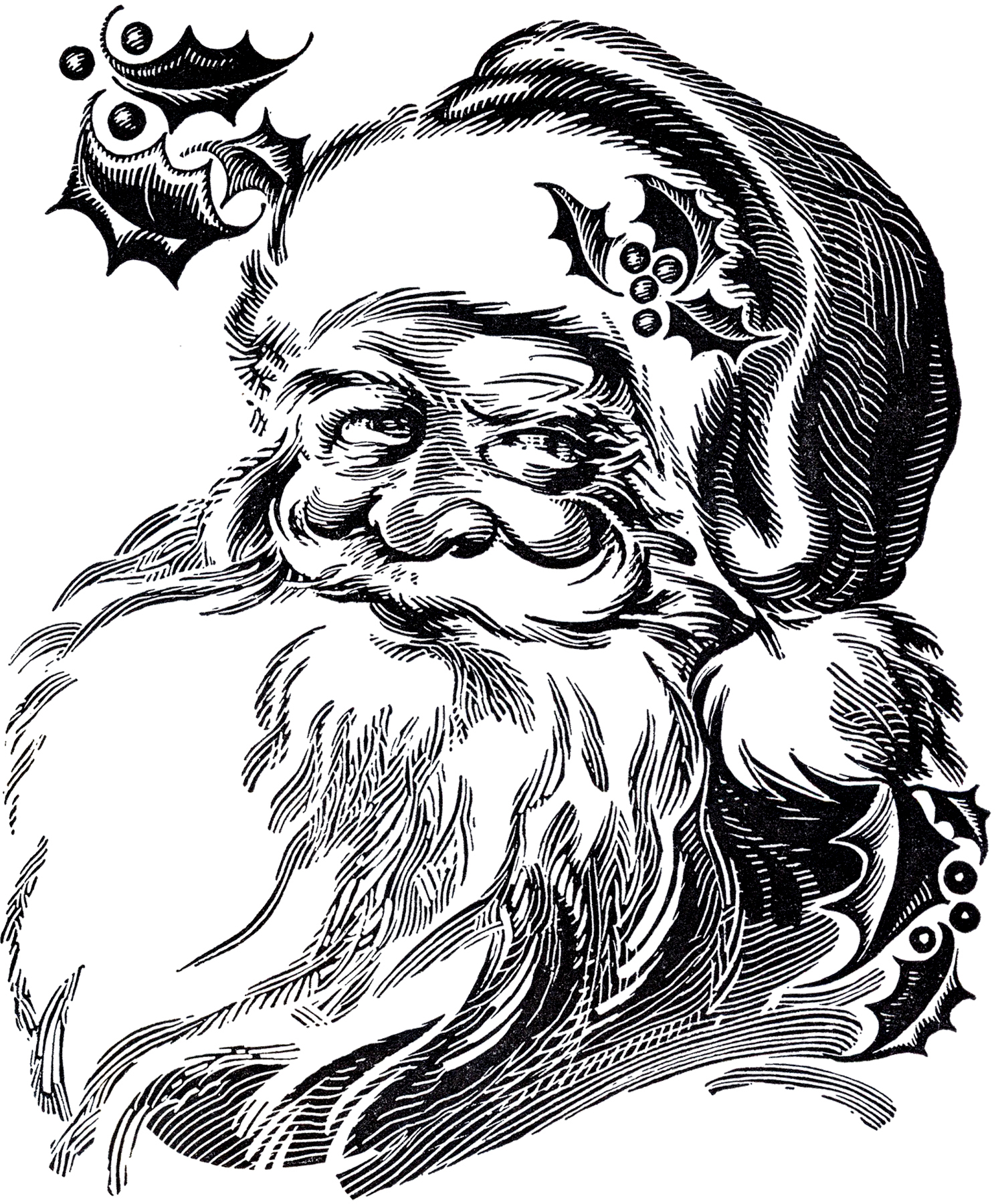 6 Santa Illustrations