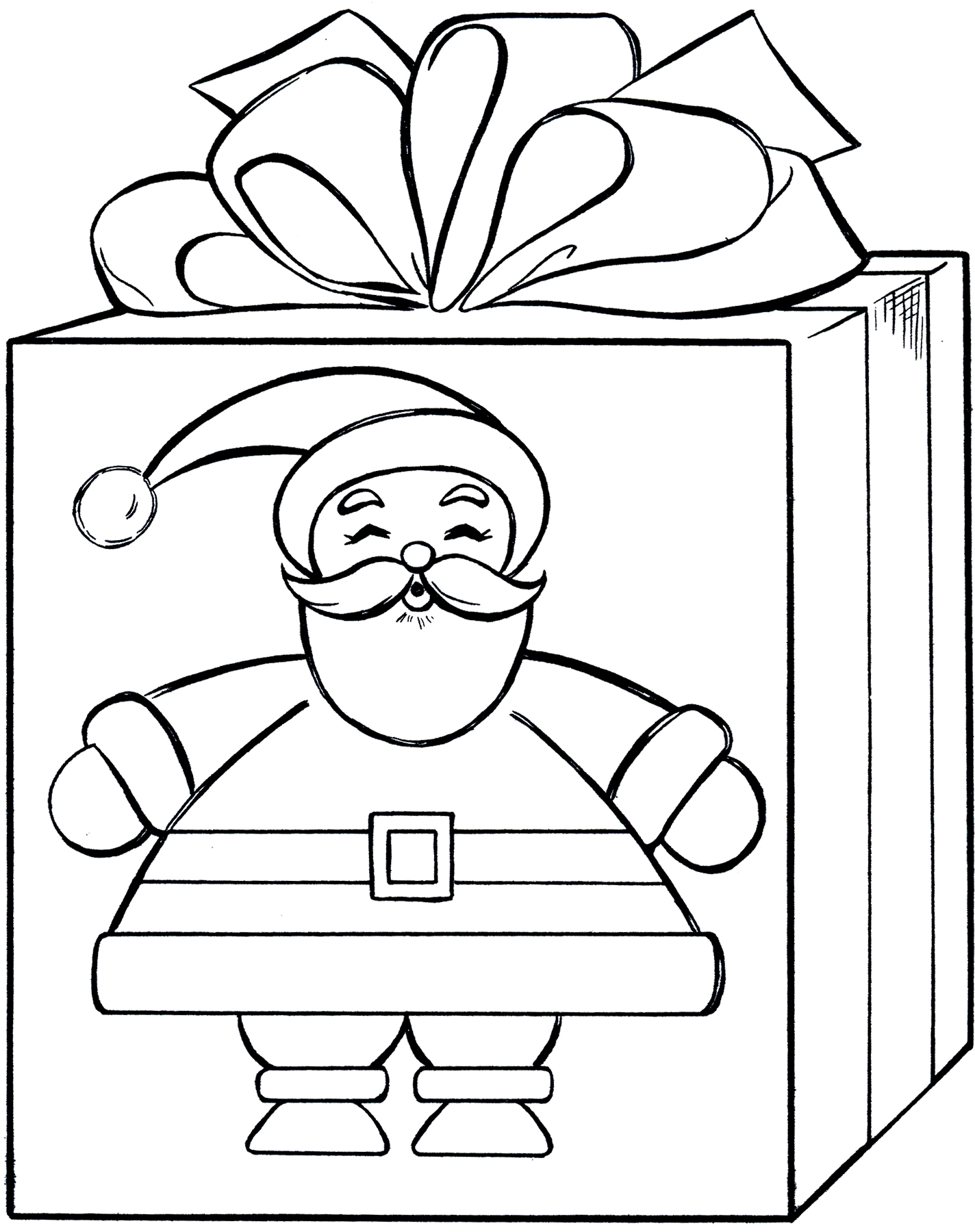 Christmas Gift Coloring Pages