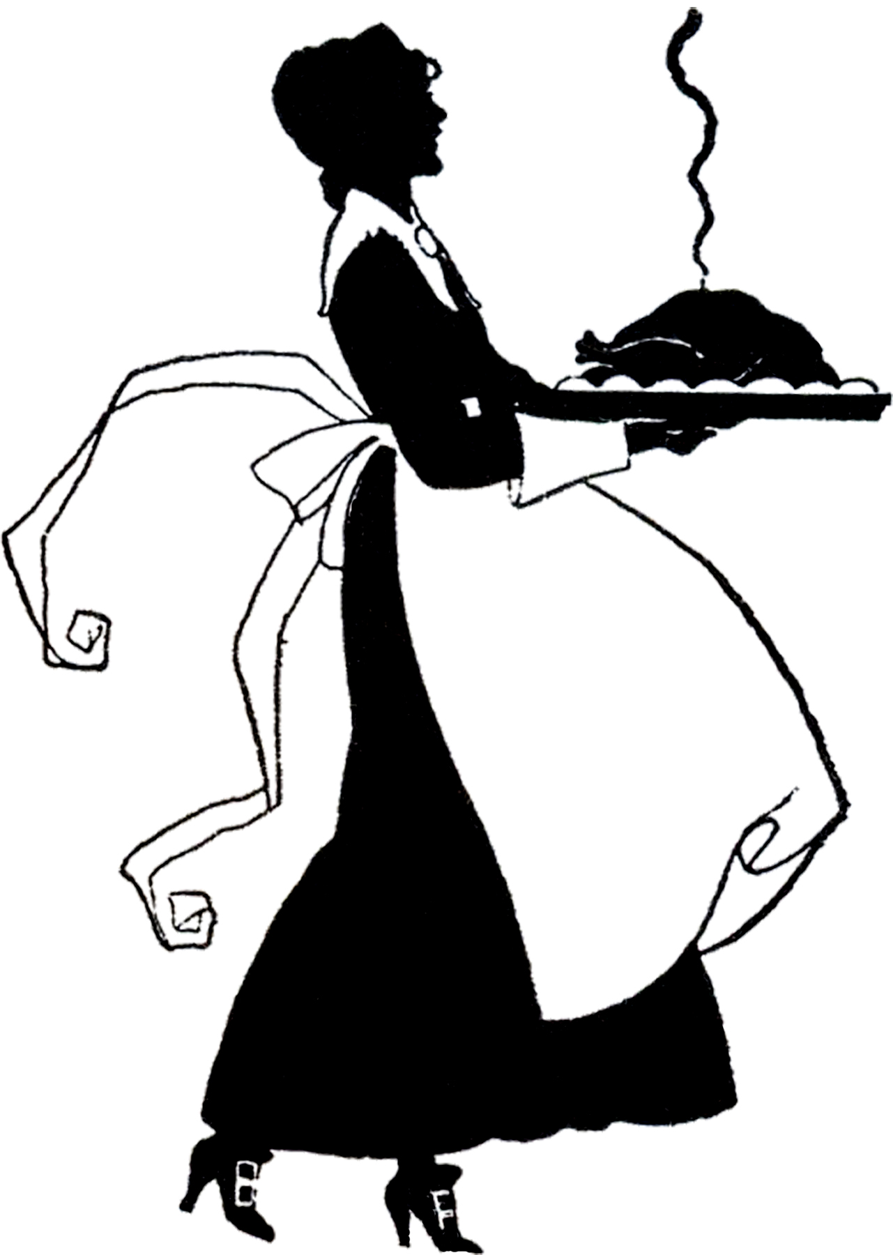 Cute Thanksgiving Pilgrim Lady Silhouette