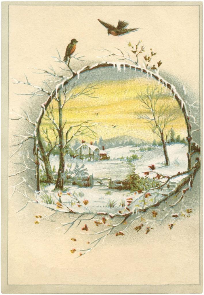 Beautiful Winter Scene Download The Graphics Fairy