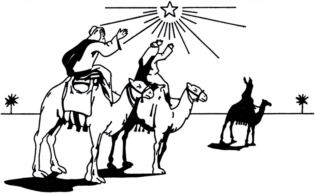 Vintage 3 Wise Men Image The Graphics Fairy