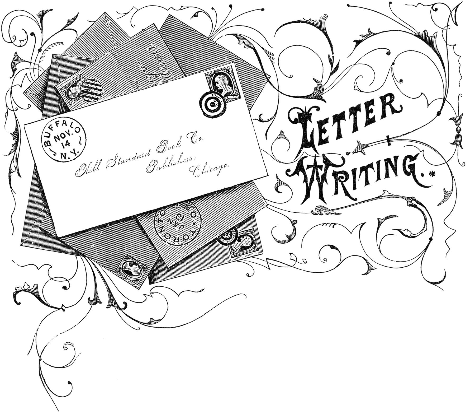 Vintage Letter Writing Image