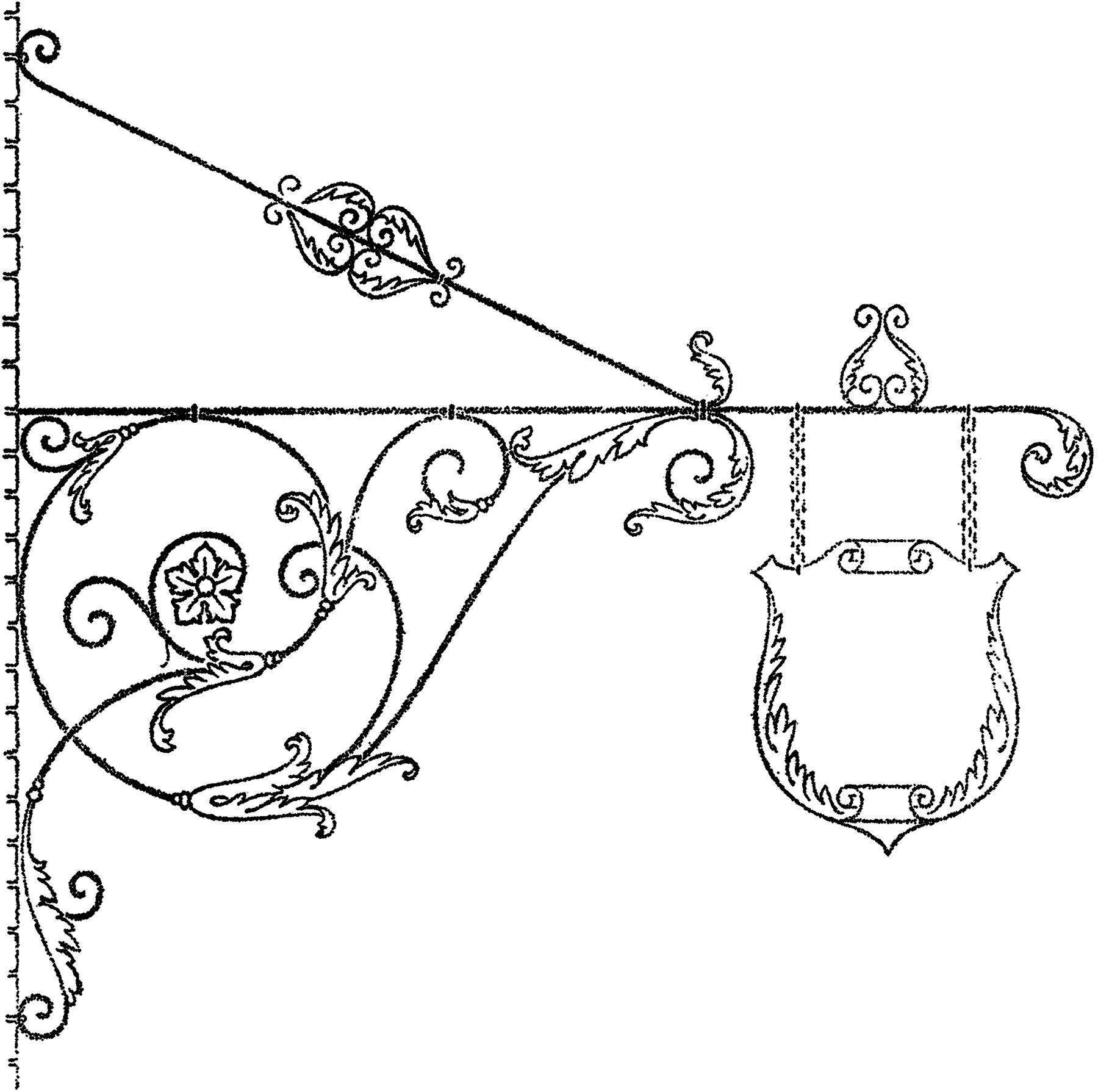 Fancy Scrolls Sign Image