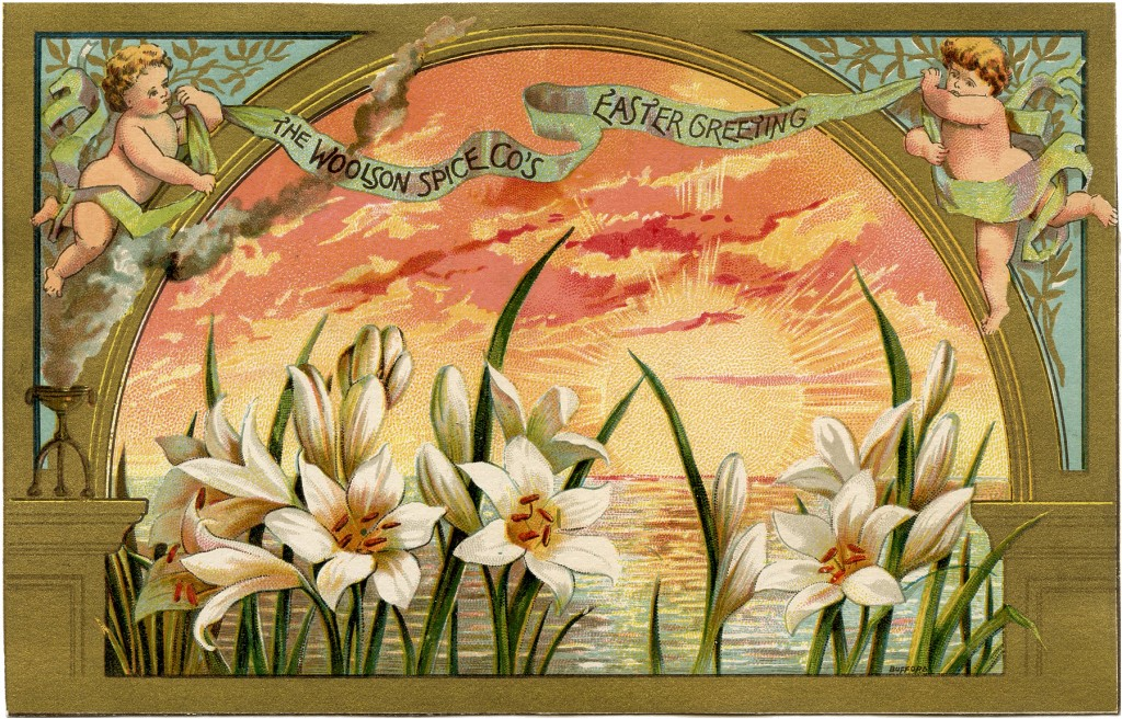 Beautiful Spice Company Easter Card The Graphics Fairy