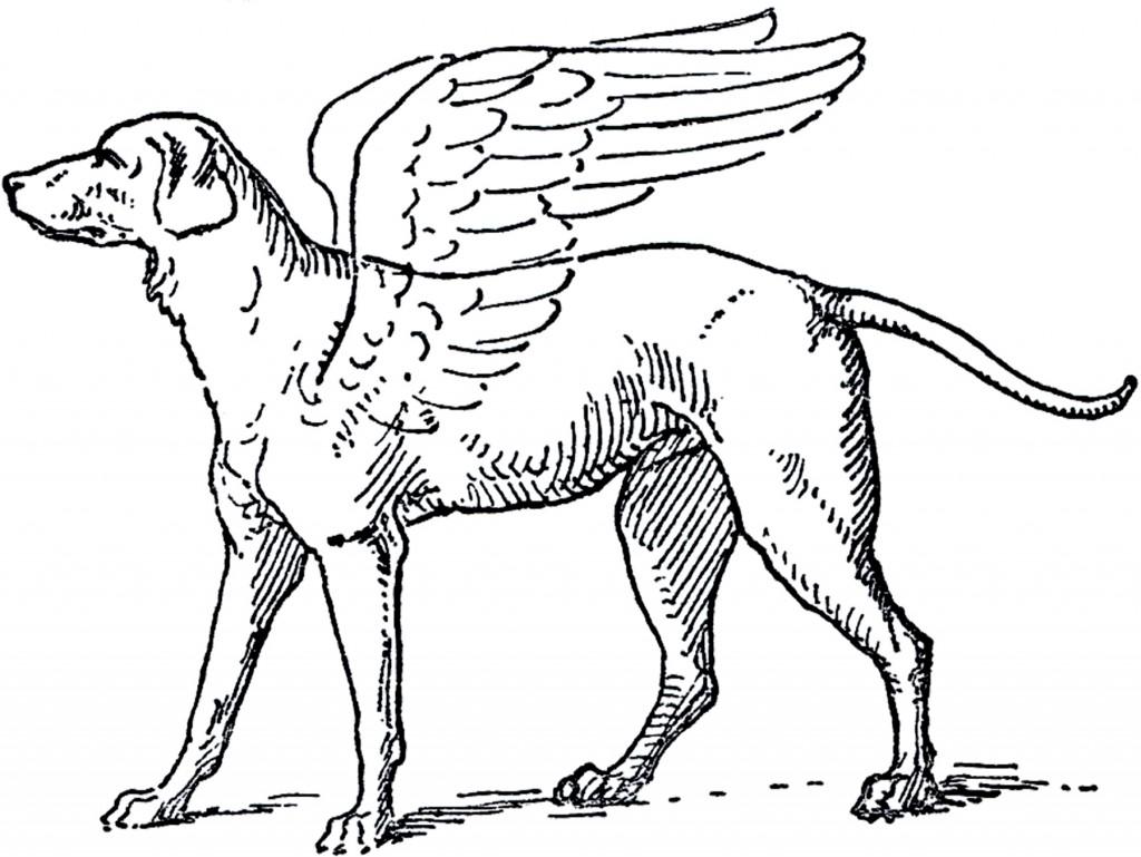 Free Angel Dog Clip Art Image Sweet The Graphics Fairy