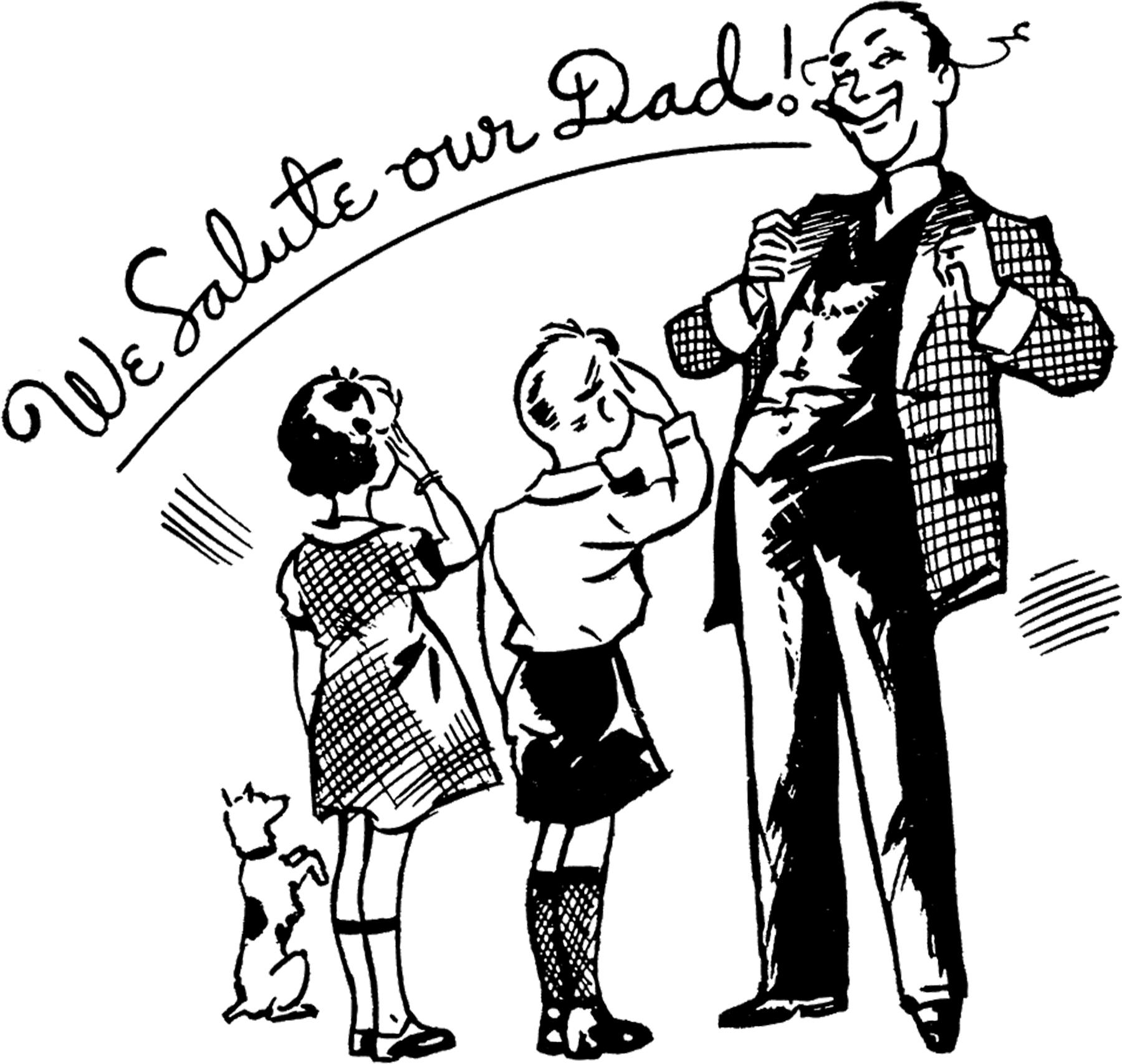 15 Retro Father S Day Clipart