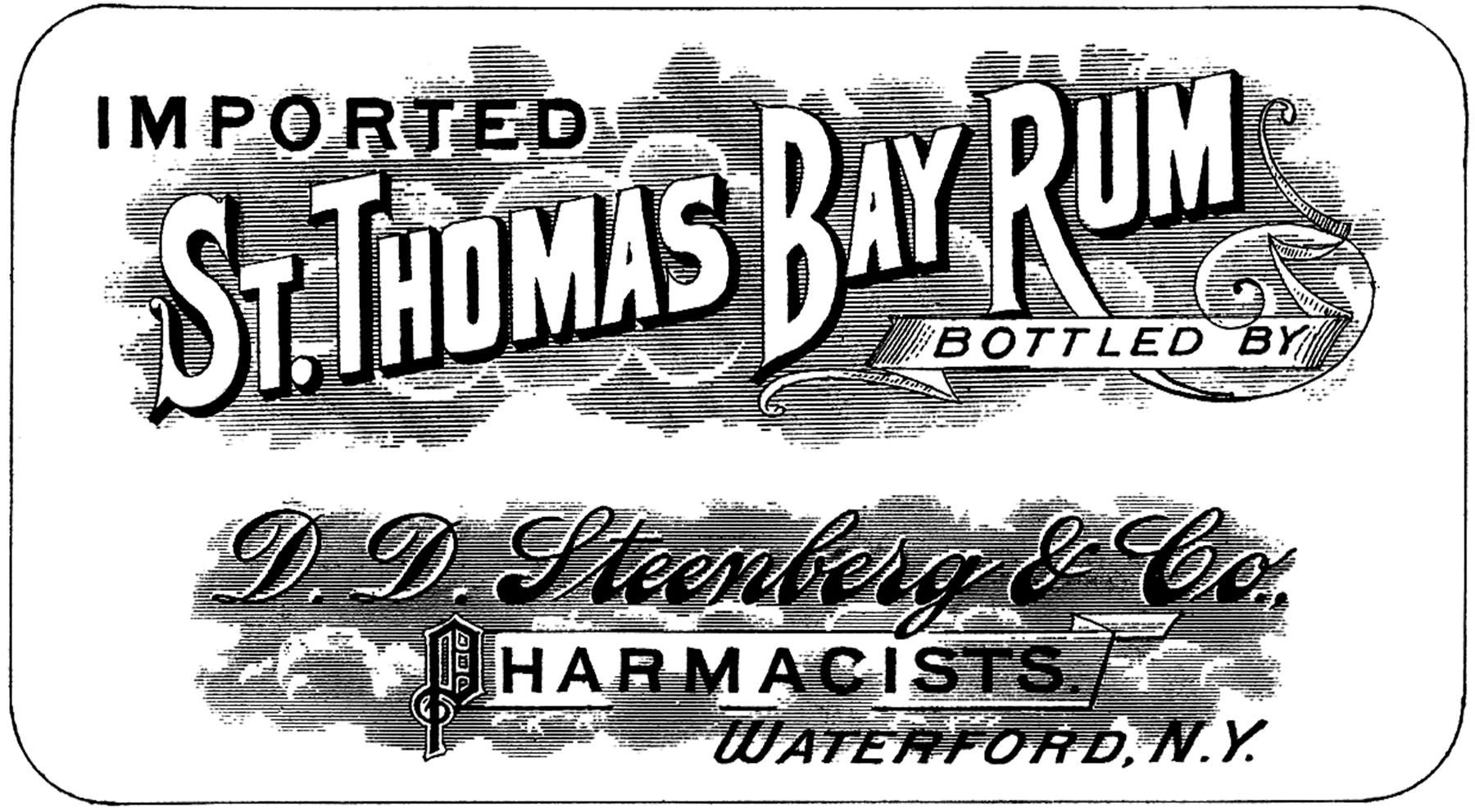 Vintage Bay Rum Label