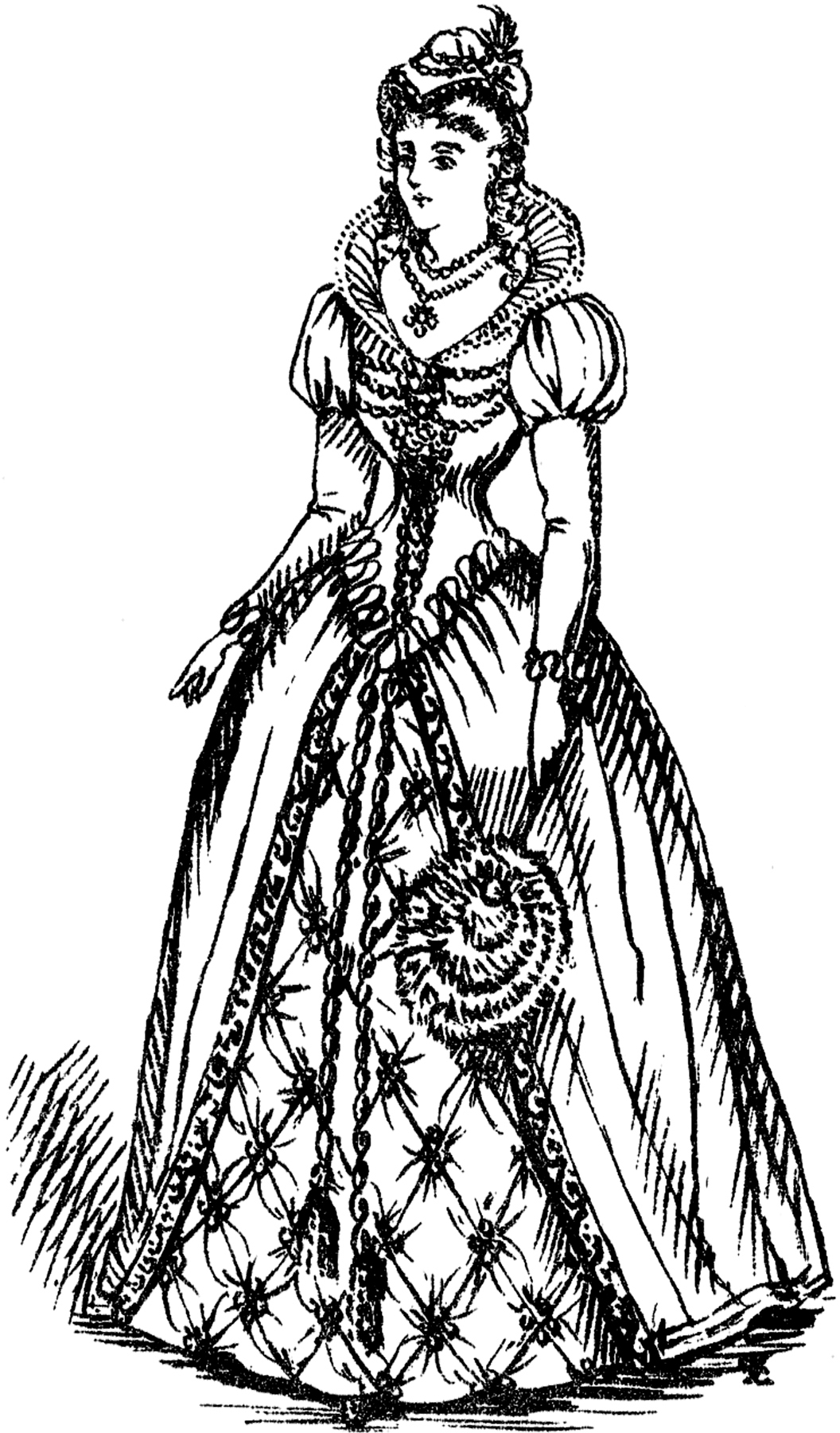 Me Val Lady Costume Image