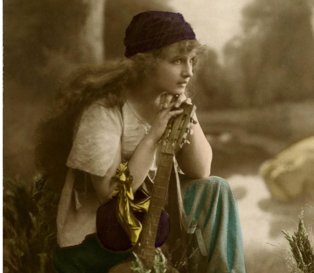 Stunning Vintage Gypsy Photo The Graphics Fairy