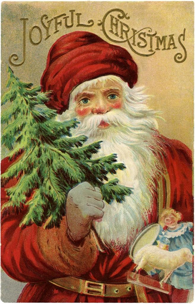 Vintage Christmas Santa Image Wonderful The Graphics