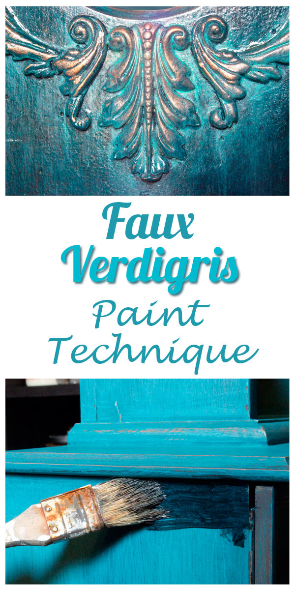 Faux Verdigris Paint Technique Feature The Graphics Fairy