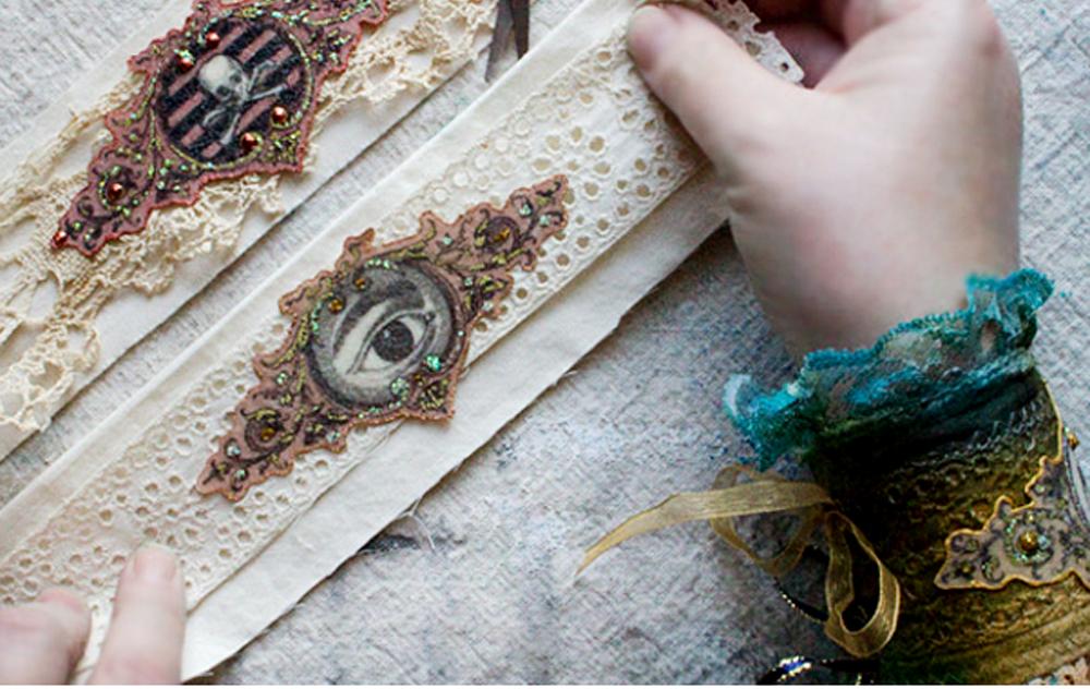Resin Plus Fabric Technique Simple The Graphics Fairy