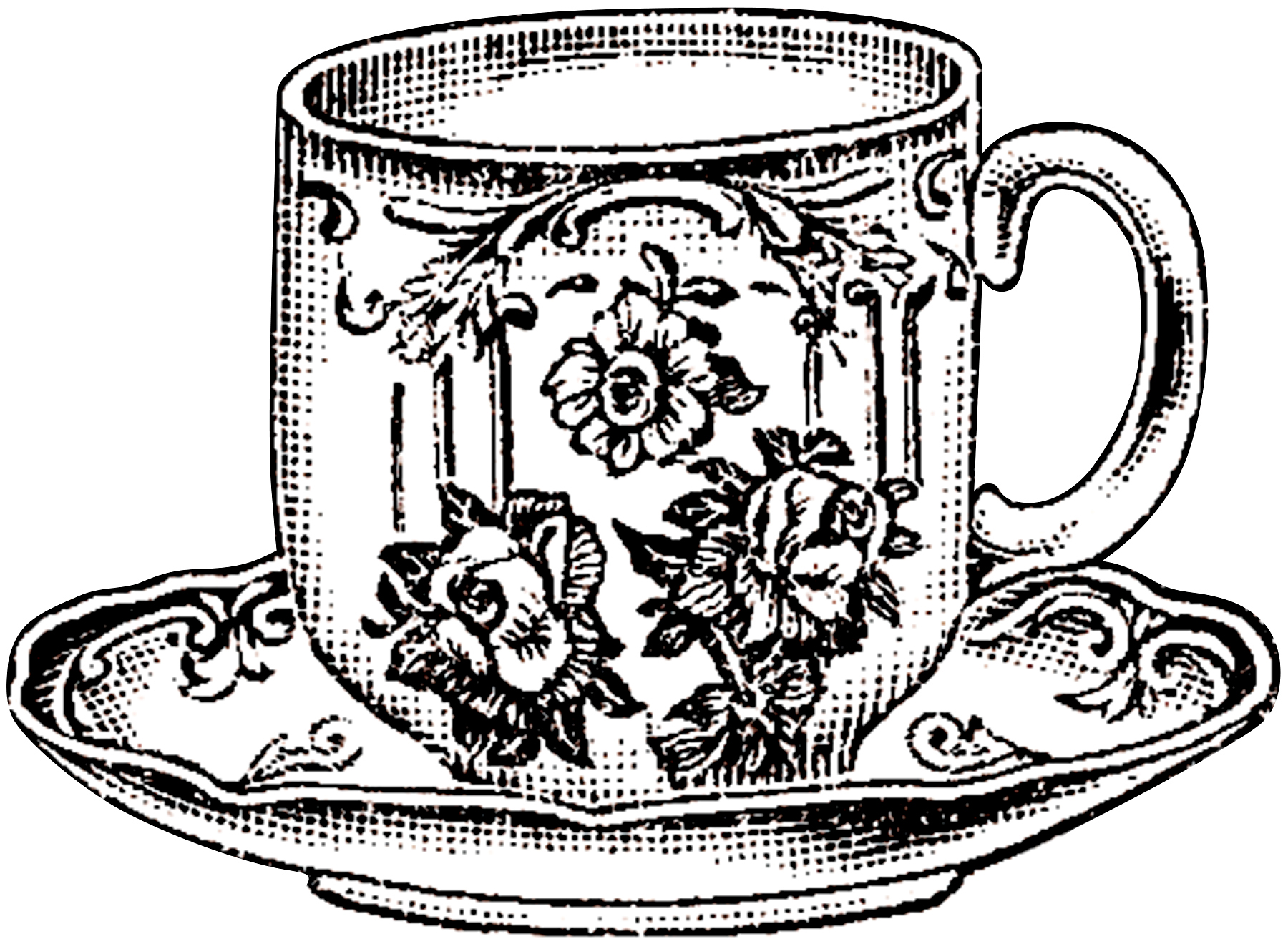 Vintage Floral Teacup Picture