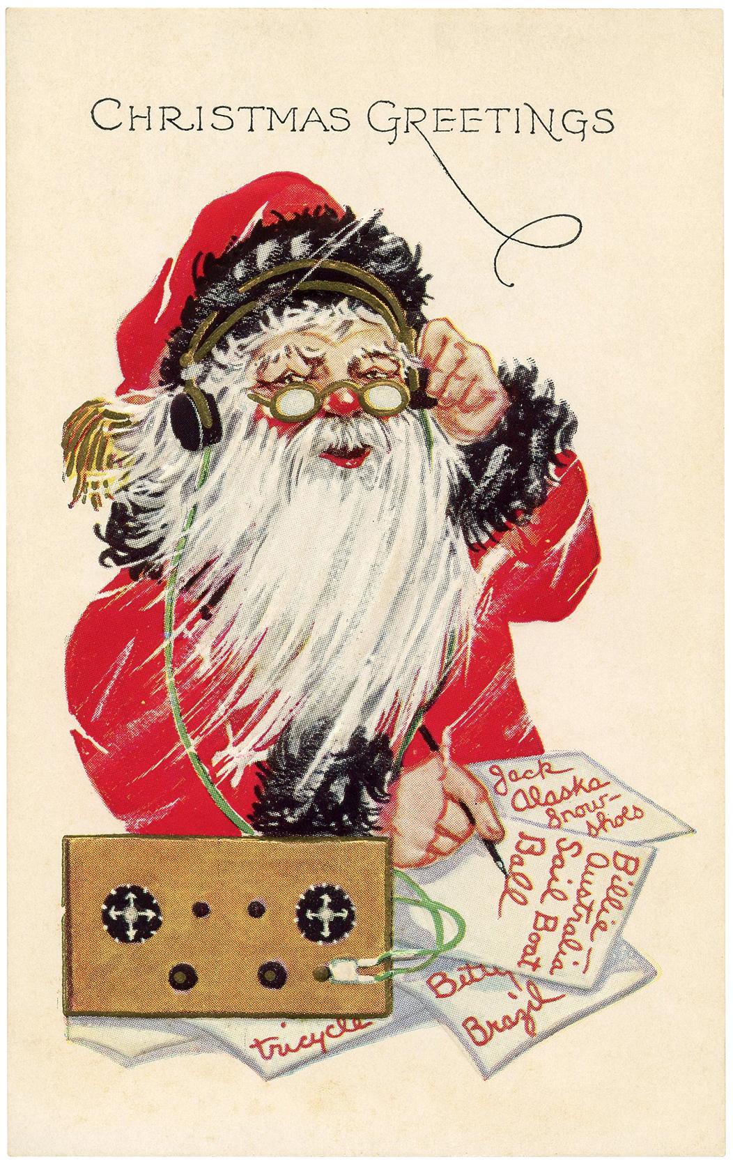 Vintage Santa List Image The Graphics Fairy