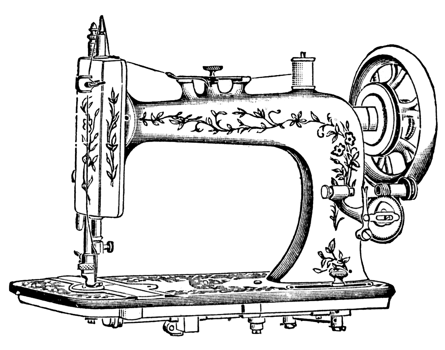 8 Antique Sewing Machine Pictures