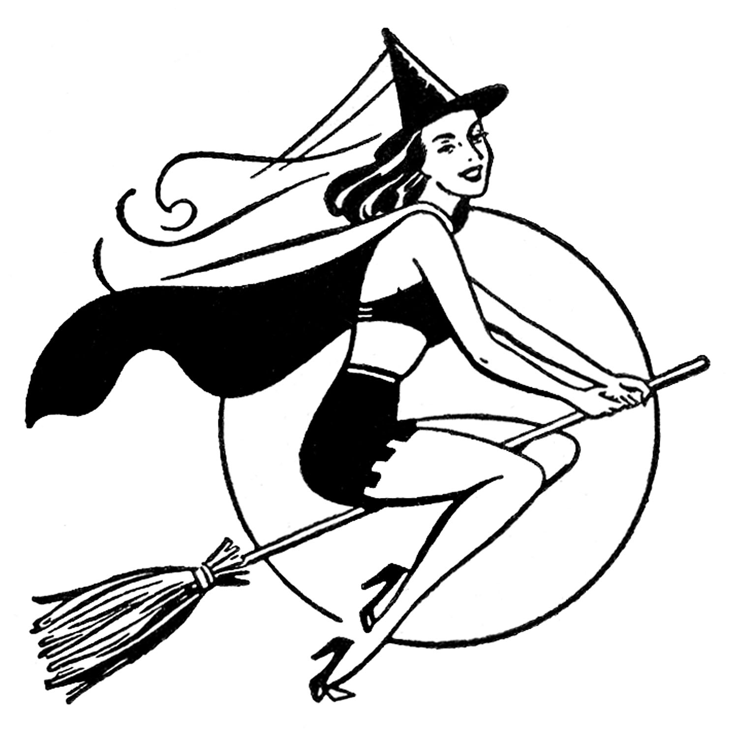 4 Pretty Witch Clipart