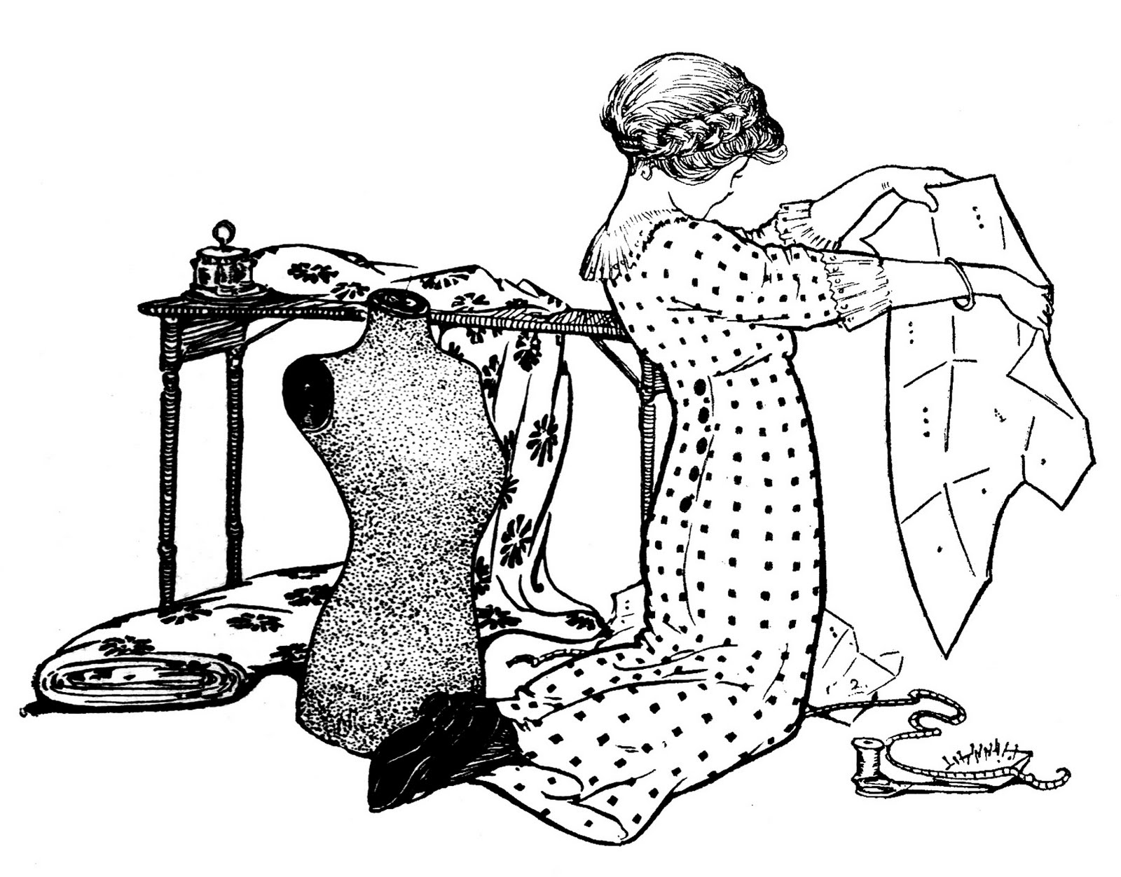 Woman Piles Paper