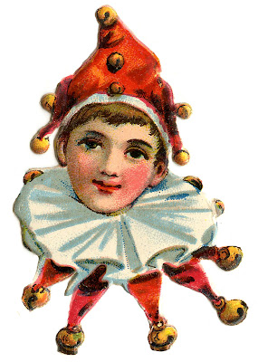 Vintage Images Cute Elf Clowns The Graphics Fairy