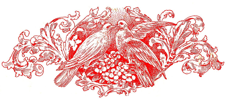 Doves And Scrolls Ephemera