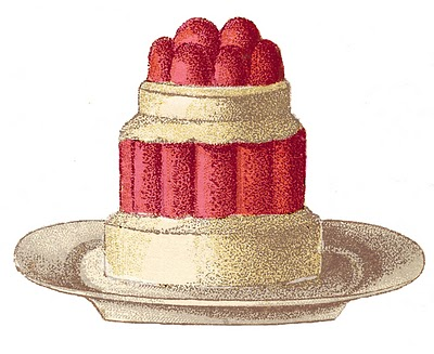 Vintage Clip Art French Desserts The Graphics Fairy