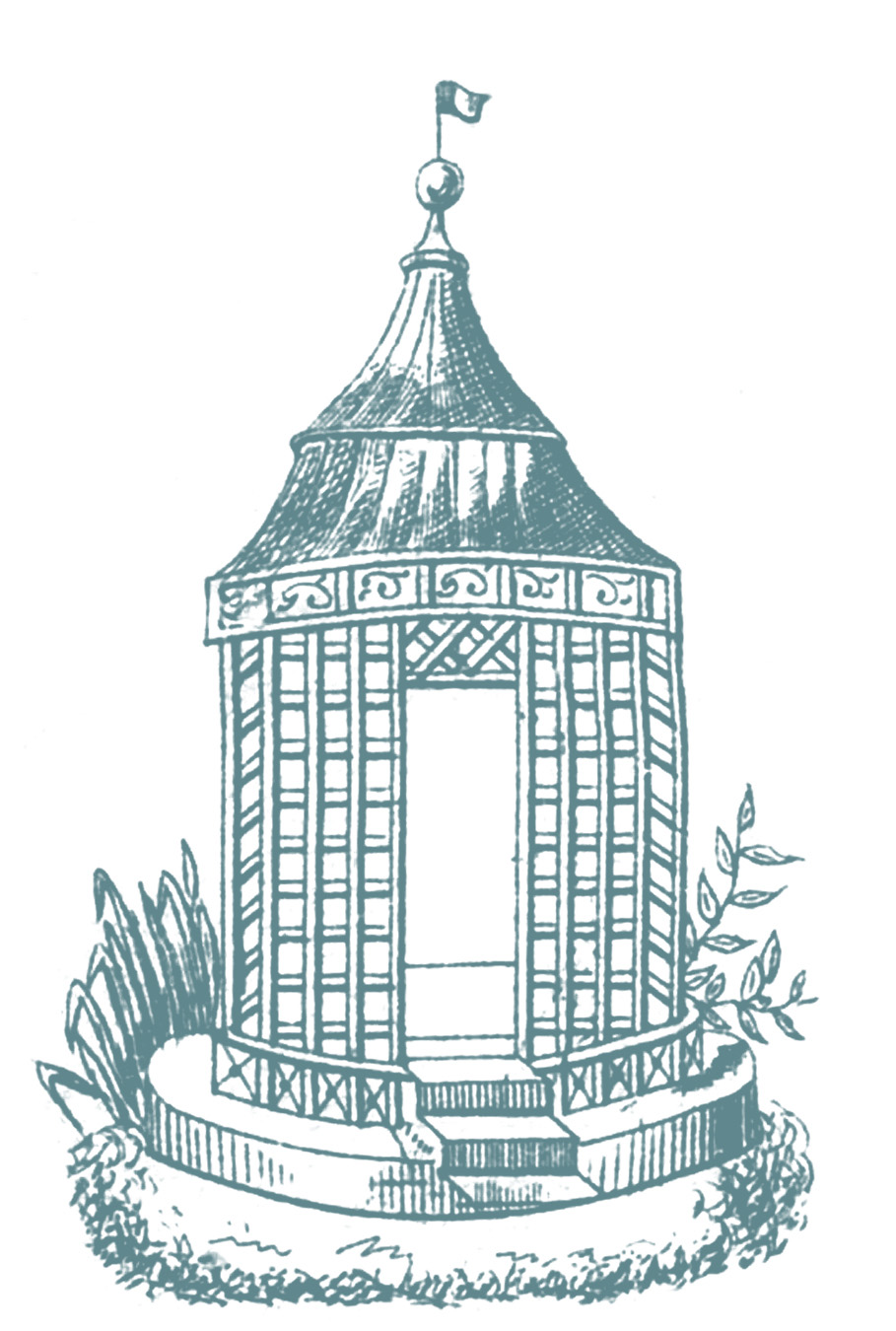 Vintage Graphic French Gazebo Garden The Graphics Fairy