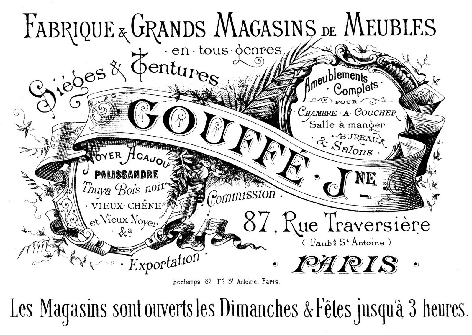 French Transfer Printable