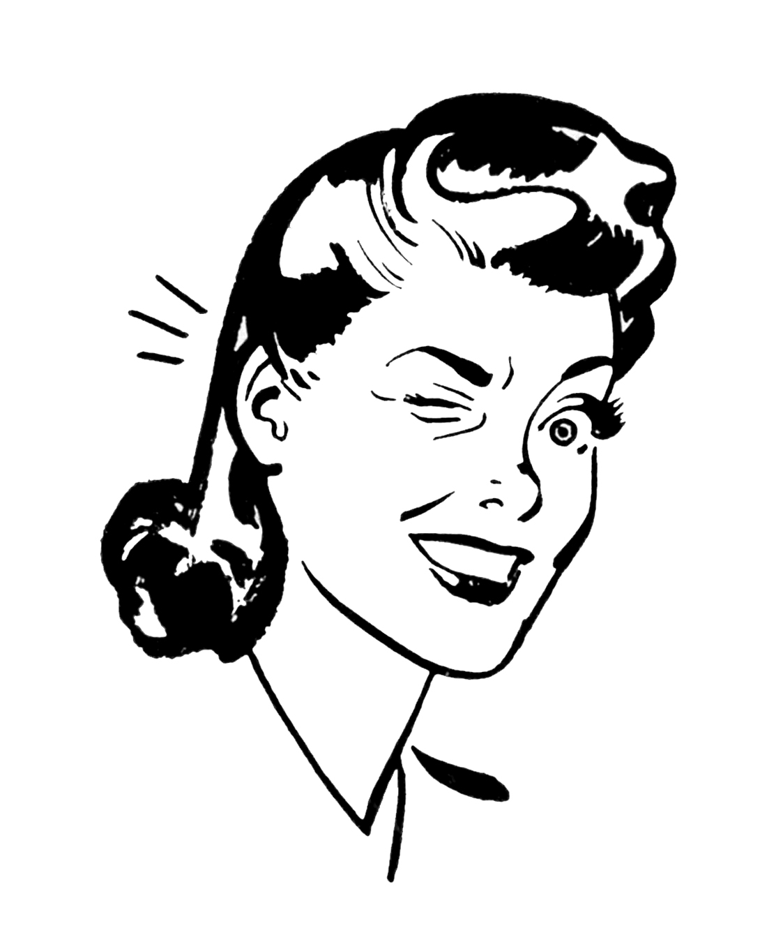 Vintage Clip Art Person
