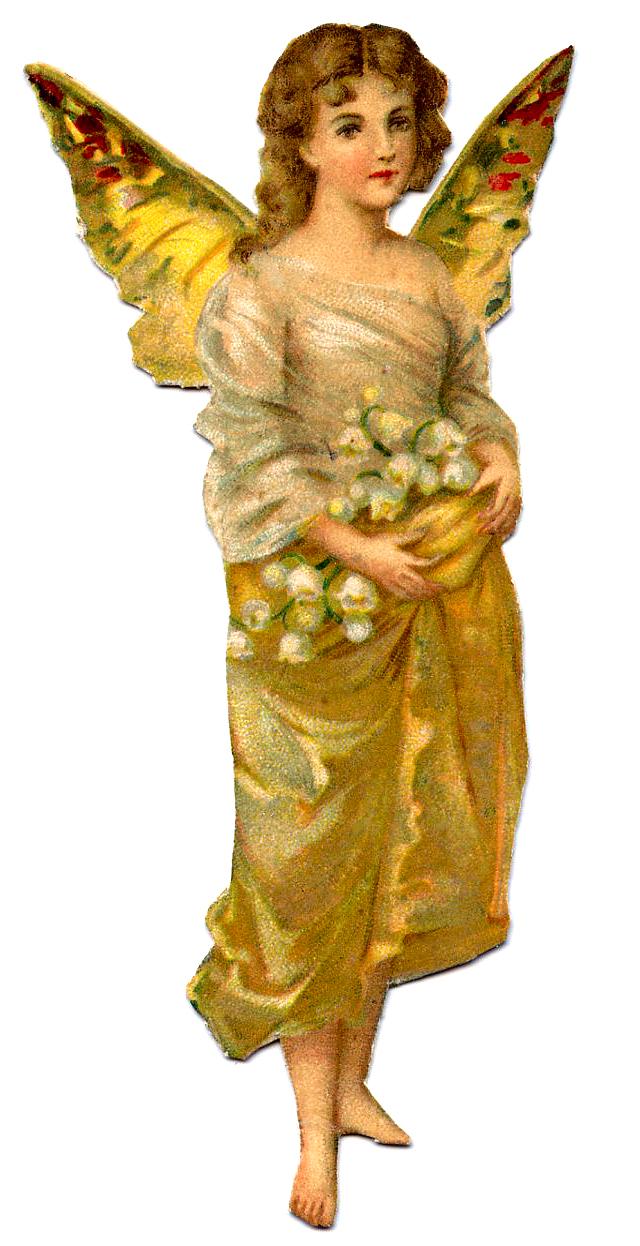 Vintage Image Golden Fairy Girl Amp Lucketts Spring Market