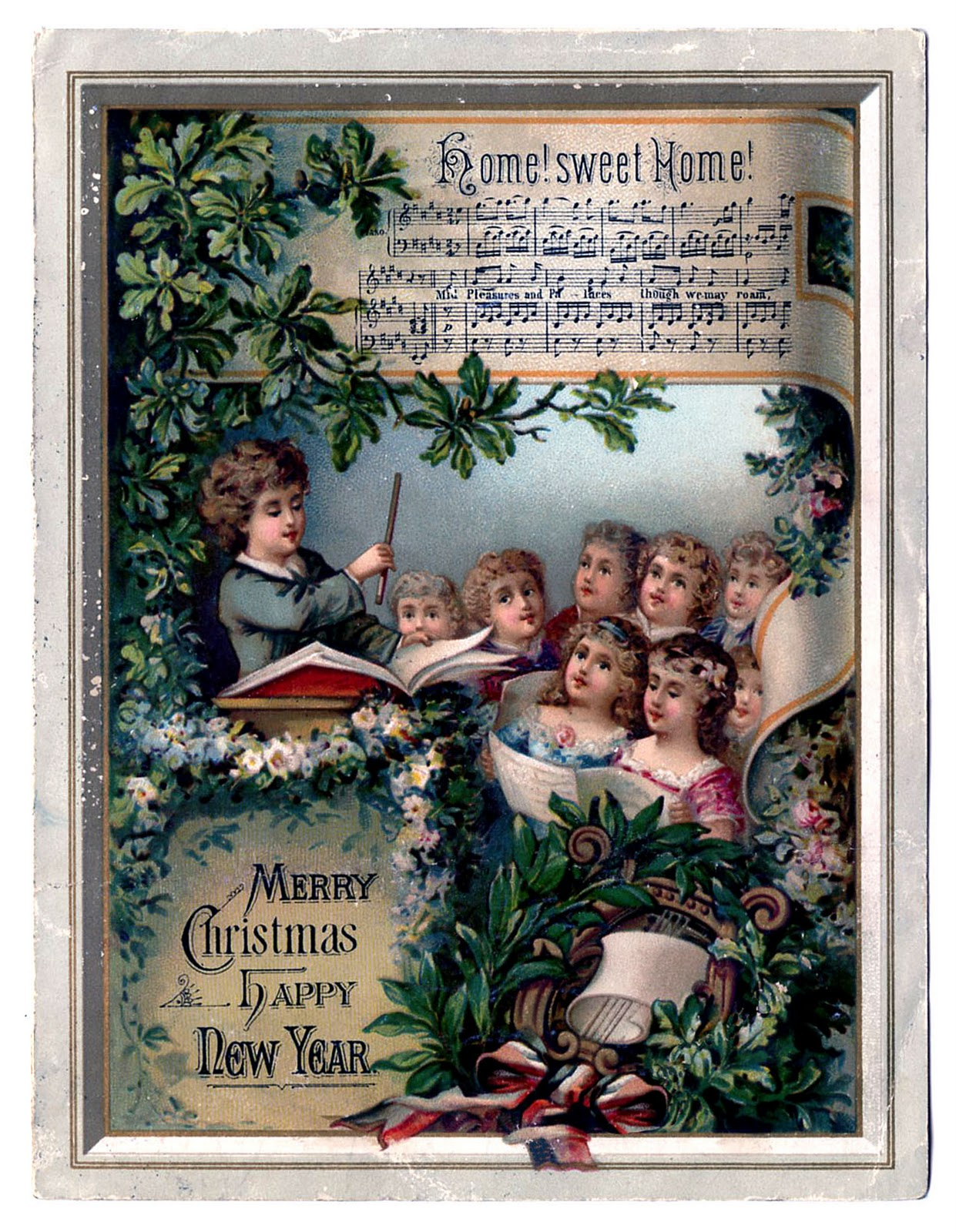 Antique Christmas Graphics Musical Advertising The