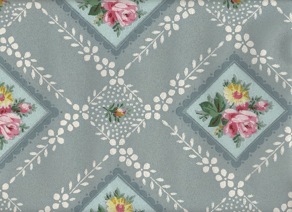 Vintage Blue/Gray Wallpaper -  The Grapic's Fairy