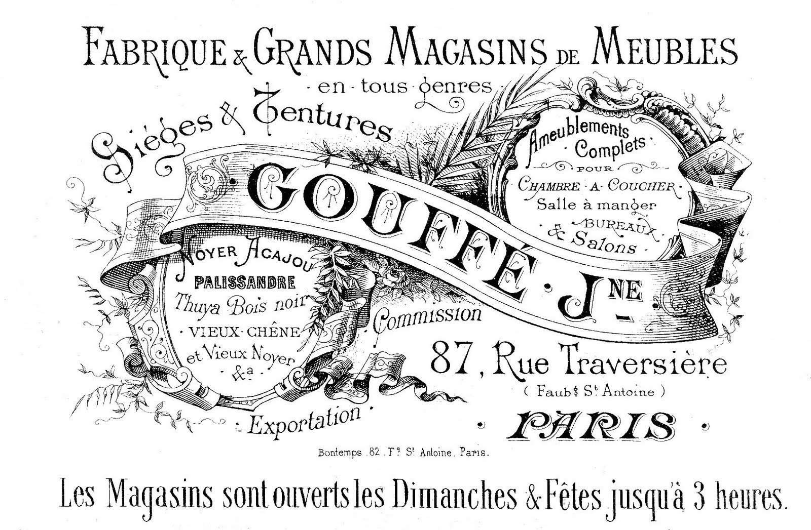 Free Vintage Clip Art Paris Advertising Ephemera The