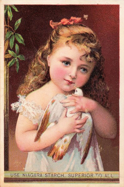 Victorian Clip Art Darling Child With Bird The
