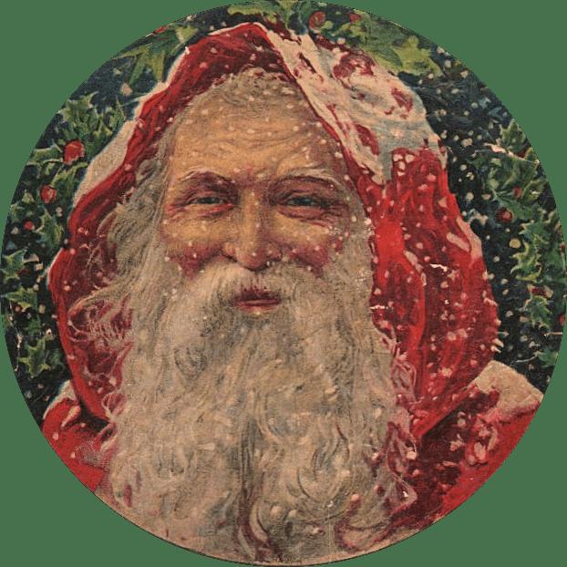 Amazing Victorian Graphic Santa The Graphics Fairy