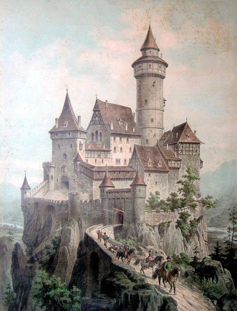 Free Vintage Clip Art Castle The Graphics Fairy
