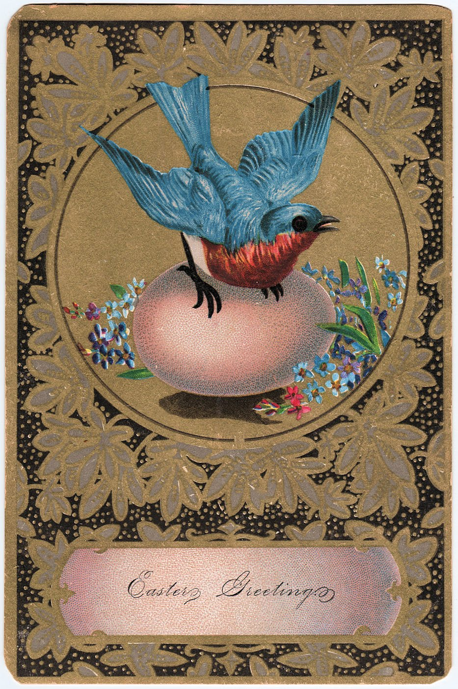 Free Vintage Clip Art Amazing Bluebird With Egg The